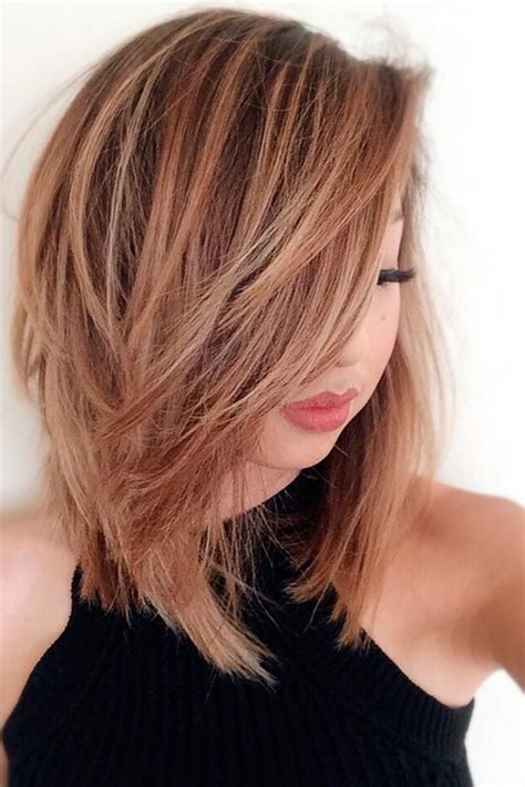 How To Cut Medium Or Thick Hair In A Blunt | 18 medium length hairstyles for thick hair medium length