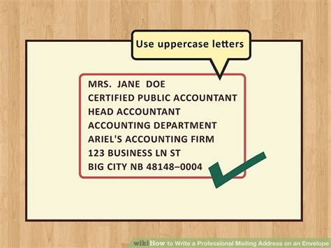 Mailing Address How To Write A Professional Mailing Address On An Envelope