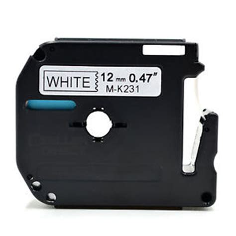 Original Label Mk 231 12mmx8m Black On White Mk231 compatible mk 231 p touch black on white label 12mm x 8m m k231