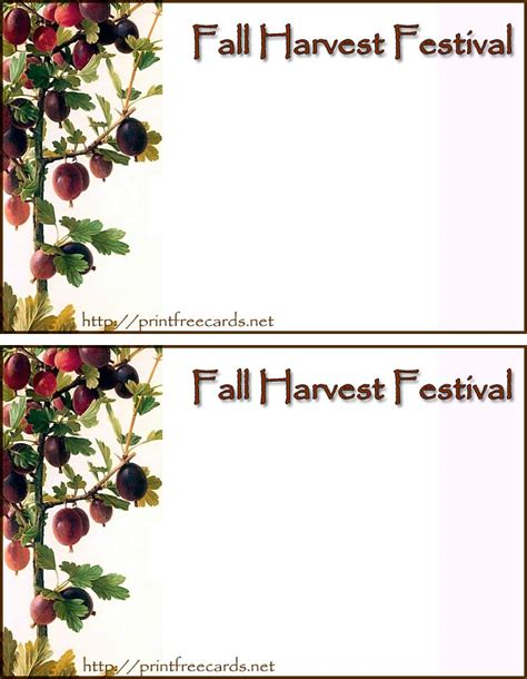 free printable fall invitation templates 6 best images of fall printable invitations fall