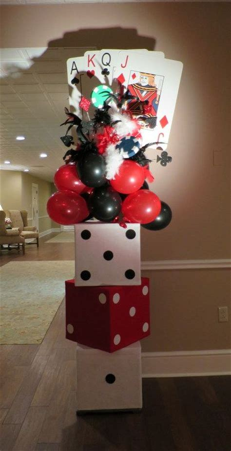 1000 ideas about casino themed centerpieces on - Casino Theme Decorations