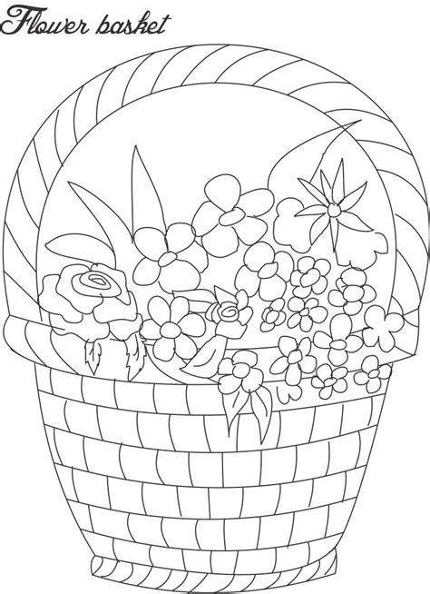 coloring page flower pot flower pot coloring printable page for 9