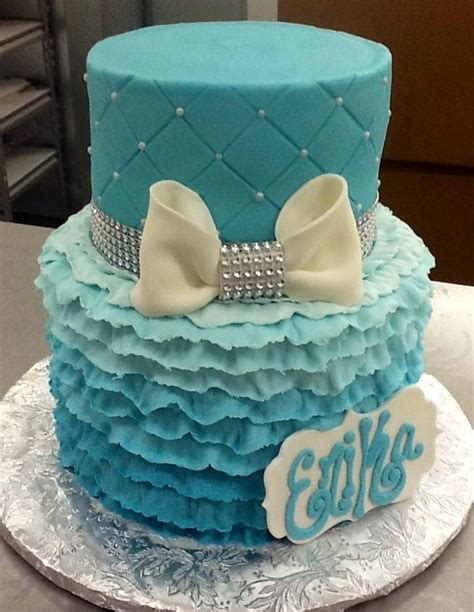 ombr 233 ruffle and quilted cake from sweet boutique cake