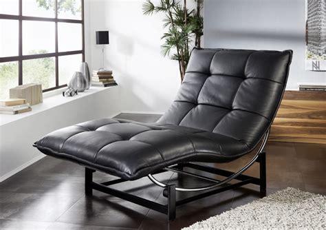 chaise longue de relaxation rockme  en cuir