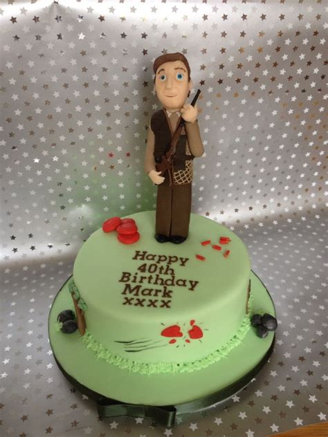 clay pigeon shoot cake shannons  birthday cake cake cake creations