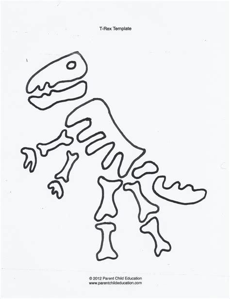 printable dinosaur skeleton template dinosaur templates parent child education dino