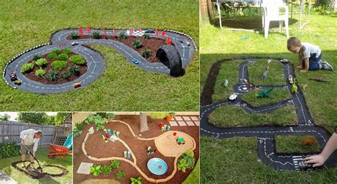 backyard cing activities diy race car track backyard projects for kids icreatived