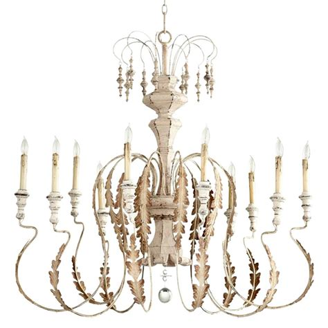 whitewashed chandelier marion country white washed 10 light chandelier