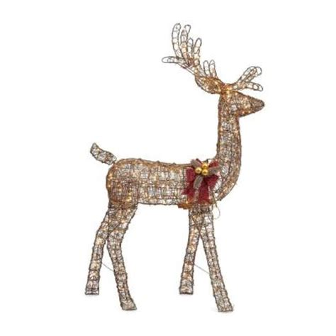grapevine animated lighted deer home accents 5 ft pre lit animated grapevine standing deer