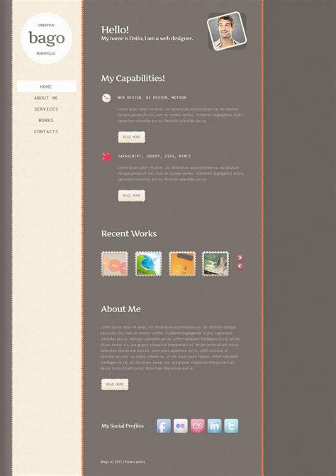 portfolio psd template designer portfolio psd template 57348