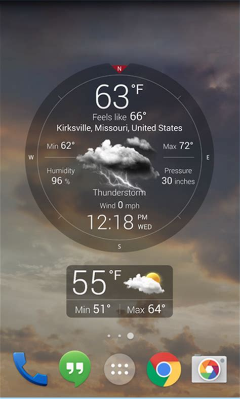 best free android weather widget best free weather apps for android with widgets technobezz
