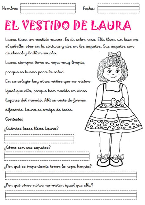 lecturas sencillas para nios de primer grado ejercicios de comprensi 243 n de lectura para primer grado