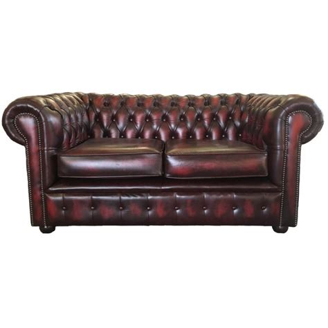 chesterfield sofa oxblood chesterfield antique oxblood red genuine leather two