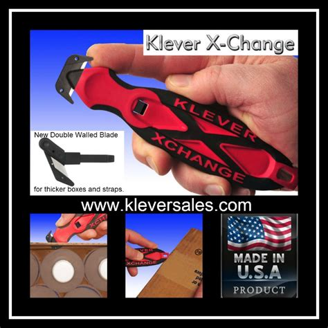 klever xchange box cutter kleversales safety knife box cutters safety box