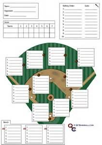 free baseball lineup card template softball defensive lineup card