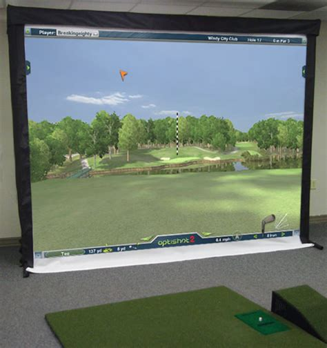 p3 pro swing golf simulator setting up a complete p3proswing or optishot home golf