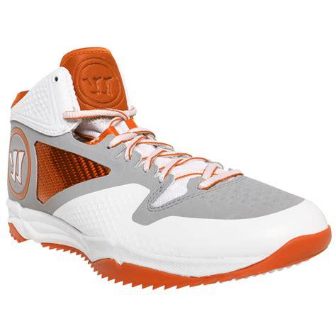 lacrosse turf shoes warrior adonis lacrosse turfs white orange