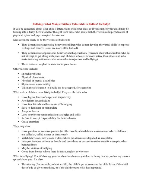 How To Write A Complaint Letter About Bullying In The Workplace Bullying Parent Letter