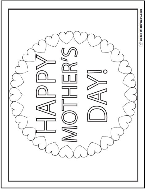 45 mothers day coloring pages print and customize for
