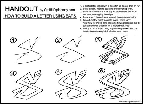 Drawing Letters by How To Draw Graffiti Letters Step By Step On Paper Www