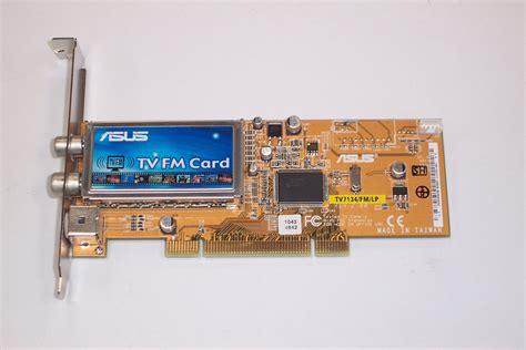 Tv Tuner Asus asus tv7134 fm lp pci tv fm tuner card ebay