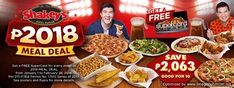 Pasta Salad by Save Php2063 Plus Free Supercard On Shakey S Php2018 Meal
