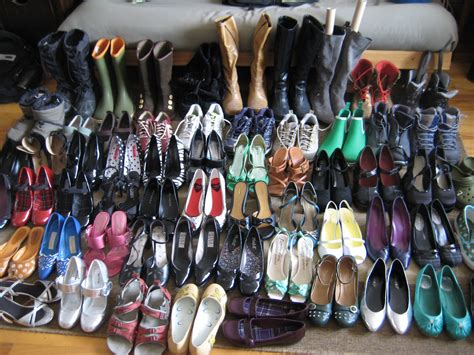 shoe collection consolidating chaos time to go shopping