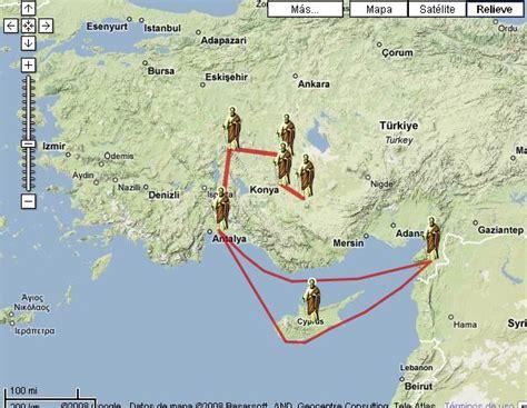 cuarto viaje misionero de pablo mapa viajes de pablo de tarso lanjaron religi 243 n
