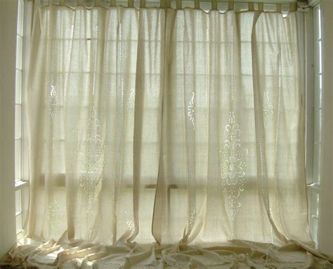 french country lace curtains tab top french country cotton linen crochet lace curtain