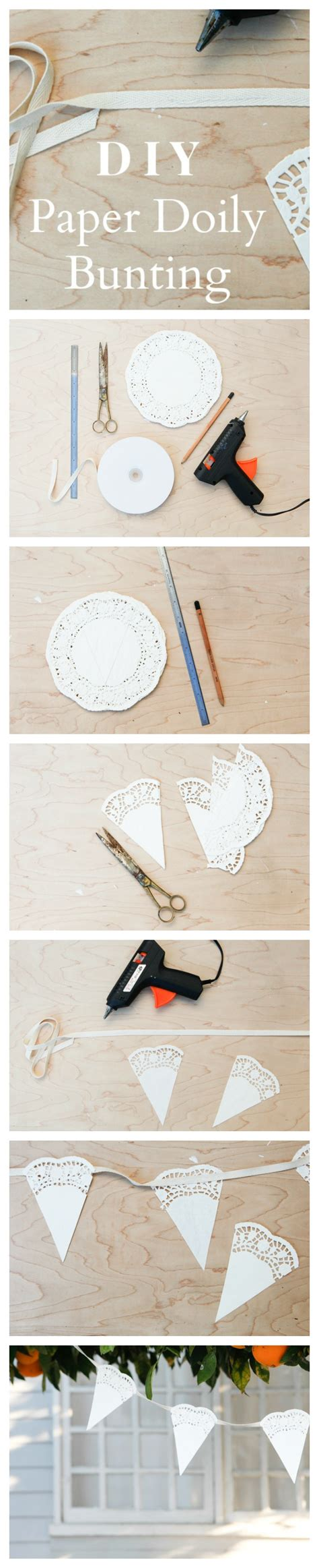 How To Make Doily Paper - how to make paper doily bunting rustic wedding chic
