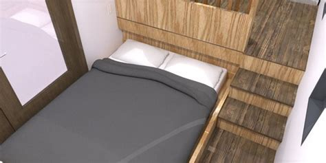 Athru Tiny House Plans: Bed Slides Out from Underneath the