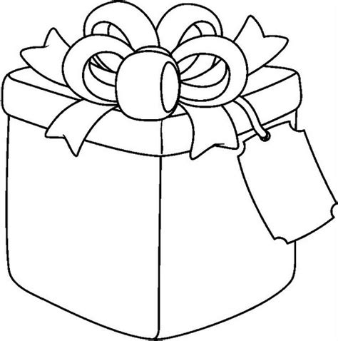 free coloring pages of birthday present