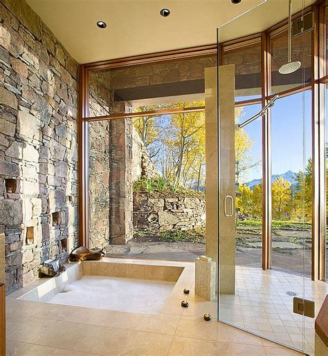 bathroom natural 30 exquisite and inspired bathrooms with stone walls