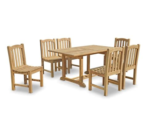 Deck Box Wood by 6 Seater Garden Table And Chairs Teak Patio Outdoor