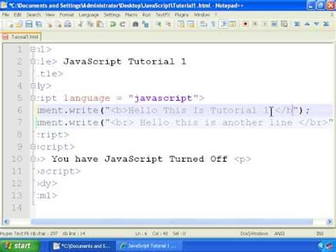 javascript tutorial hello world javascript tutorial 1 getting started hello world