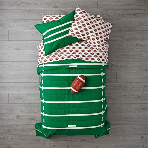 football toddler bed nod football bedding the land of nod