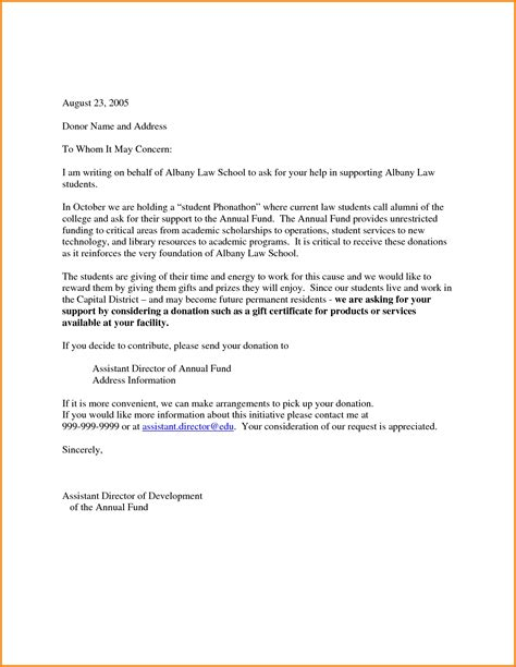 Official Letter Giving Information Sle Solicitation Letter For Business The Letter Sle