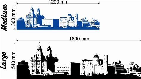 Sticker Stencils For Walls stunning liverpool skyline wall art decal vinyl sticker