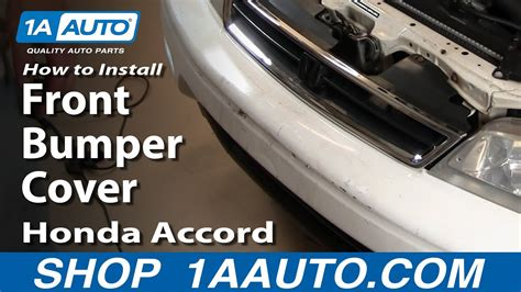 replace front bumper cover   honda accord youtube