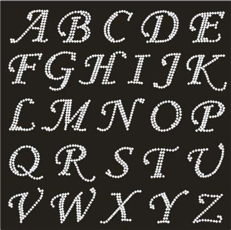 Transfer Letter Print Fix Rhinestone Motif Rhinestone Iron Heat Transfer Capital Alphabet Letters And Numbers