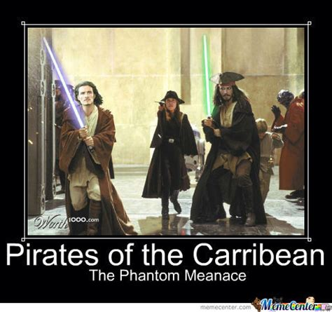 Pirates Of The Caribbean Memes - pirates of the carribean the phantom meanace by jamie