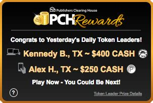 Pch Daily Token Leaderboard - how would you like to play games for money pch blog
