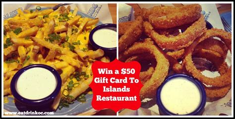 Islands Restaurant Gift Card - giveaway 50 gift card to islands restaurant ends 4 30 14