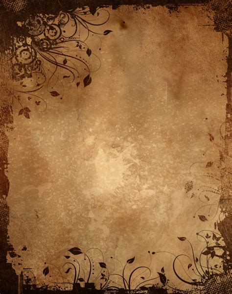 design background paper vintage paper background with grunge floral design photo