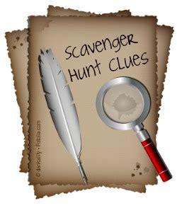 scavenger hunt clues how to write scavenger hunts