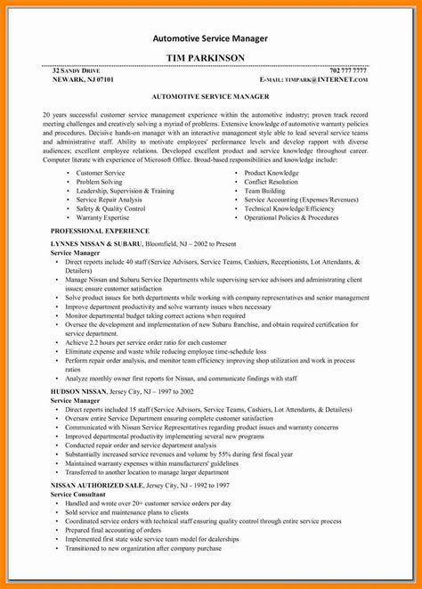 resume format for automotive service manager best of cover letter project manager how to format a cover letter
