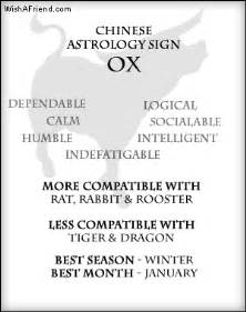 your chinese zodiac profile ox