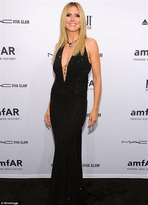 Backless And Beautiful Heidi Klum backless and beautiful heidi klum dazzles in plunging