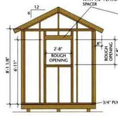 Shed Designs 8 X 12 by Buy 8x12 Shed Designs Naka