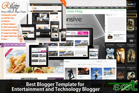 entertainment templates for blogger top 10 blogger templates for technology and entertainment